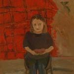 Isobel Brigham - Self portrait with Tartan Rug 1980s