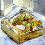 Isobel Brigham - Apples in a Box 1998