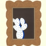 Cactus 2014 collage in cut out frame 10x8 ins