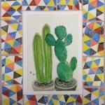 Isobel Brigham - Cactus watercolour 2012