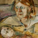Isobel Brigham - Fleur Selwyn Sharpe with Jasper 1995