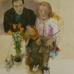 Isobel Brigham - Hamish Robinson and Isobel Brigham Double Portrait Chelsea 1980s