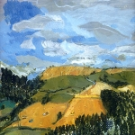 Isobel Brigham - Harvesting, view from Treskelly Farm Port Eliot 2000