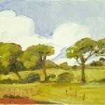 Isobel Brigham - Line of Trees Hartland North Devon 2004