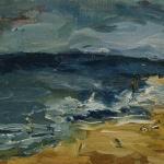 Isobel Brigham - Seascape at Bacton Norfolk 1989
