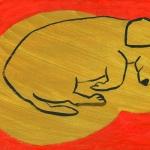 Studio Dog 3 2010 Oil paint on board 8x10 ins