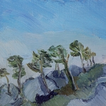 Isobel Brigham - Trees on the Rocks Mas St Jerome Les Alpilles 1999