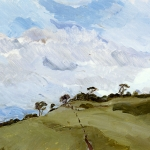 Isobel Brigham - Windy Ridge, view from Treskelly Farm Port Eliot 2000